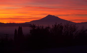 Mt Shasta Sunset