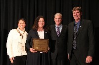 Receiving the Distinguised School Award from the CA Superintendent of Education, Tom Torlakson.