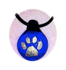 Now available in office...Handmade Wildcat Paw Print image glass pendants...$20.00 ea. Half the proceeds go to the 8th grade trip.  Mt Shasta Glass